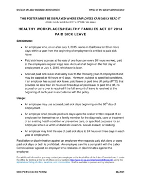 california paid sick days poster template   small