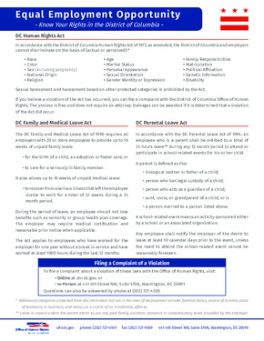district of columbia eeo poster  small