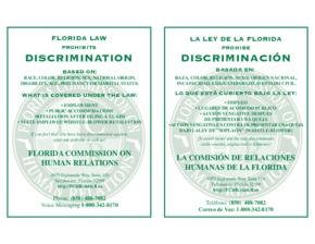 florida florida law discrimination poster small