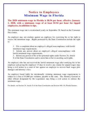 florida poster fl minimum wage  english small