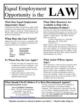 iowa ia equal employment opportunity small