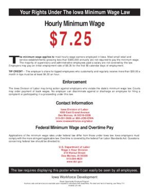 iowa state min wage small
