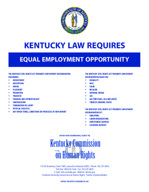 kentucky equal employment opportunitiy poster english small