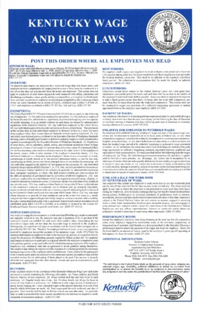 kentucky ky wage and hour poster english small
