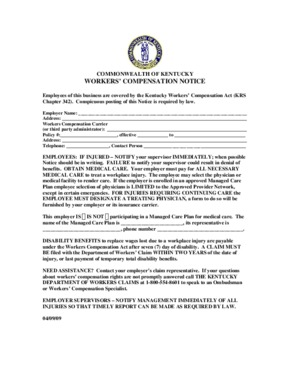 kentucky workers comp posting notice english small