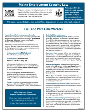 maine maine employment security law small