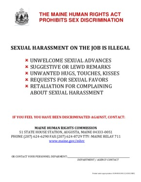 maine sexual harassment poster  small