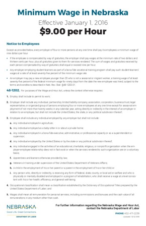 nebraska minimum wage poster small