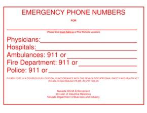 nevada nv osha emergency numbers small