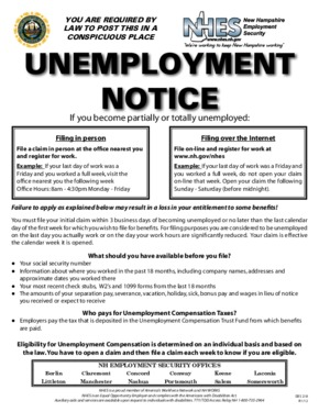 new hampshire unemployment notice small