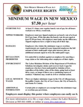 new mexico new mexico minimum wage act summary small