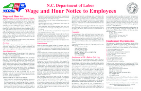 north carolina labor law poster english small