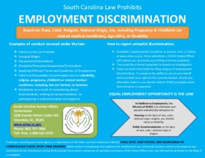 south carolina updated employment poster pregnancy accommodation small