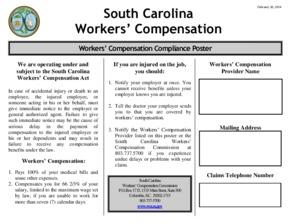 south carolina compliance poster small