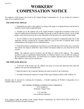 virginia employers workplace notice form   small