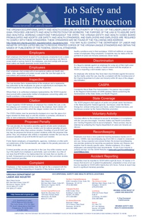 virginia virginia occupational safety and health poster english  small